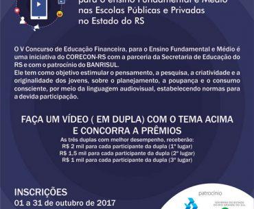 V Concurso de Educação Financeira nas Escolas do RS